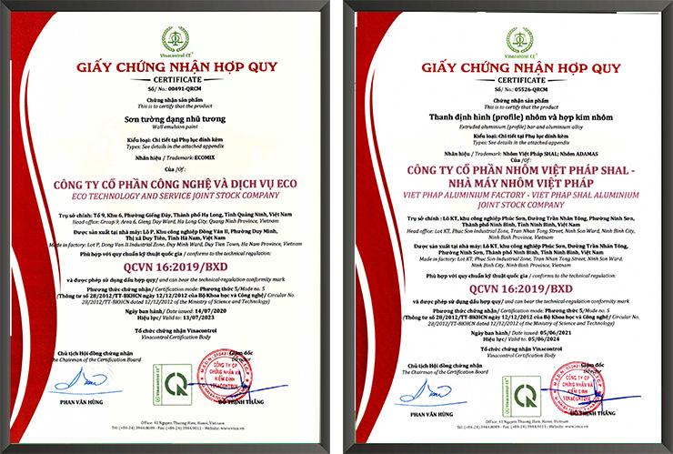 Vinacontrol CE cấp giấy chứng nhận hợp quy vật liệu xây dựng