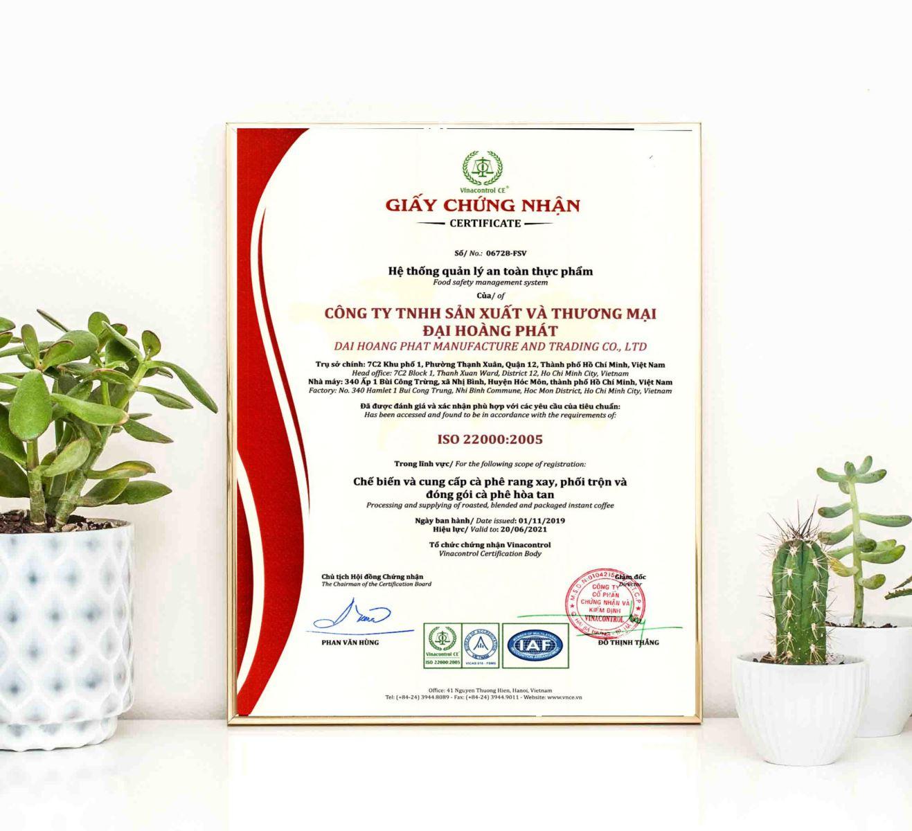 Giấy chứng nhận ISO 22000 quản lý an toàn thực phẩm